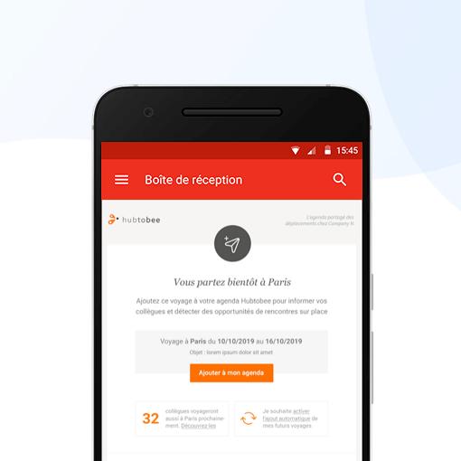 Hubtobee - Partage de voyages d'affaires sur mobile